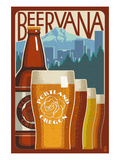 Beervana - Portland, Oregon Print by  Lantern Press