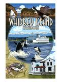 Whidbey Island, Washington - Scenes Posters by  Lantern Press