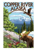 Copper River, Alaska Montage Posters by  Lantern Press