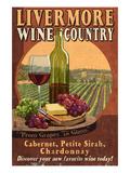 Livermore, California - Wine Affiches par  Lantern Press