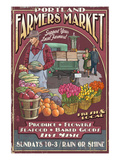 Portland, Oregon - Farmer's Market Posters by  Lantern Press