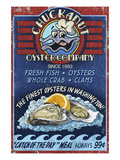 Chuckanut , Washington - Oyster Company Prints by Lantern Press 
