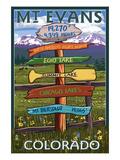Mt. Evans, Colorado - Sign Destinations Print by  Lantern Press