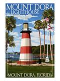 Mount Dora, Florida - Lighthouse Poster par  Lantern Press