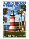 Mount Dora, Florida - Lighthouse Poster by  Lantern Press