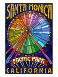 Santa Monica, California - Ferris Wheel Prints by  Lantern Press
