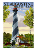 St. Augustine, Florida Lighthouse Affiches par  Lantern Press
