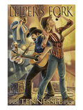 Leiper's Fork, Tennessee - Country Band Affiche par  Lantern Press