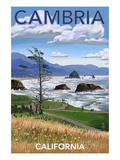 Cambria, California - Rocky Coastline Posters by  Lantern Press