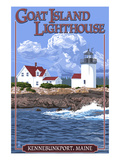Kennebunkport, Maine - Goat Island Lighthouse Posters by  Lantern Press