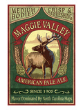 Maggie Valley, North Carolina - Elk Pale Ale Print by Lantern Press