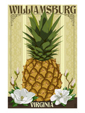 Williamsburg, Virginia - Colonial Pineapple Posters by  Lantern Press