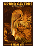 Grottoes, Virginia - Grand Caverns - Bridal Veil Poster by  Lantern Press