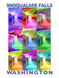 Snoqualmie Falls, Washington - Pop Art Pósters por  Lantern Press