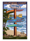 Carlsbad, California - Destination Sign Print by Lantern Press