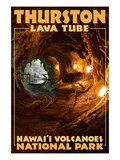 Thurston Lava Tube - Hawaii Volcanoes National Park Print by Lantern Press