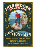 Shenandoah National Park, Virginia - Climb Stony Man Poster by  Lantern Press