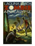 Laguna Beach, California - Zombie Apocalypse Poster by  Lantern Press