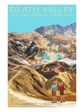 Artist's Palette - Death Valley National Park Print by  Lantern Press