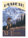Mt. Evans, Colorado - Hiking Scene Art by  Lantern Press