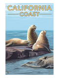 California Coast - Sea Lions Posters by Lantern Press