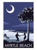 Myrtle Beach, South Carolina - Palmetto Moon Beach Dancers Kunstdrucke von  Lantern Press