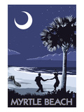 Myrtle Beach, South Carolina - Palmetto Moon Beach Dancers Prints by Lantern Press 