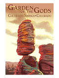 Colorado Springs, Colorado - Garden of the Gods, Balanced Rock Poster by Lantern Press
