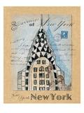 Souvenir of New York Giclee Print by Wild Apple Studio