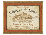 French Wine Labels II Premium Giclee Print by Daphne Brissonnet