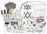 Farm Buddies Color Me Placemat Set Craft Supplies