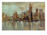 Misty Day in Manhattan Reproduction procédé giclée par Silvia Vassileva