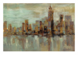 Misty Day in Manhattan Giclée-Druck von Silvia Vassileva