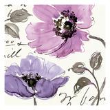 Floral Waltz Plum I Giclee Print by Pela Studio