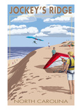 Jockey's Ridge Hang Gliders - Outer Banks, North Carolina Print by Lantern Press