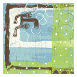 Bathroom Bubbles III Giclee Print by Mo Mullan