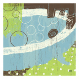 Bathroom Bubbles IV Giclee Print by Mo Mullan