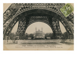 La Base de la Tour Eiffel Premium Giclee Print by Hugo Wild