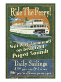 Port Townsend, Washington - Ferry Prints by  Lantern Press