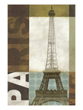 Urban Paris Giclee Print by Mo Mullan