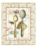 Rose Garden Utensils II Premium Giclee Print by Lisa Audit