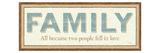 Family Premium Giclee Print by  Pela
