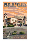 Scotty's Castle - Death Valley National Park Art by  Lantern Press