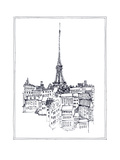 Eiffel Tower Premium Giclee Print by Avery Tillmon