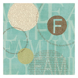 Circle of Words Giclee Print by Veronique Charron