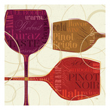 Colorful Wine II Giclee Print by Pela Studio
