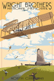 Lantern Press - Wright Brothers National Memorial - Outer Banks, North Carolina - Reprodüksiyon