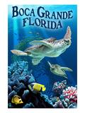Boca Grande, Florida - Sea Turtle Fishing Posters by  Lantern Press