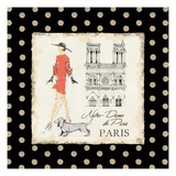 Ladies in Paris IV Giclee Print by Avery Tillmon