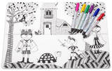 Hide & Seek Color Me Placemat Set Craft Supplies